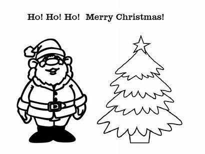 Christmas Coloring Cards Pages Card Tree Clipart