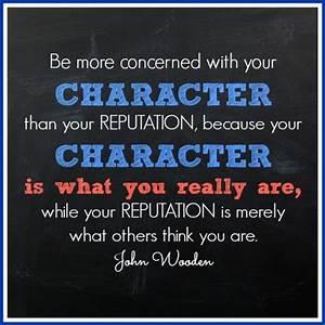 John Wooden Cha... Reputation Worth Quotes