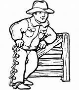 Cowboy Coloring Activity Western sketch template