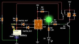 The Simplist Auto Battery Charger Circuit Using 555