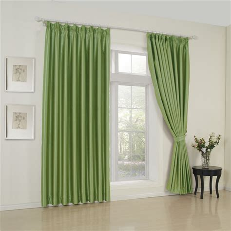 stylish blackout polyester material green room curtains
