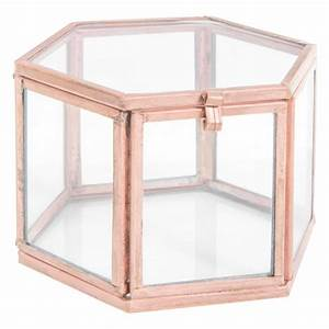Boite En Verre Deco : bo te vitrine en verre cuivr tamsir copper maisons du monde ~ Teatrodelosmanantiales.com Idées de Décoration