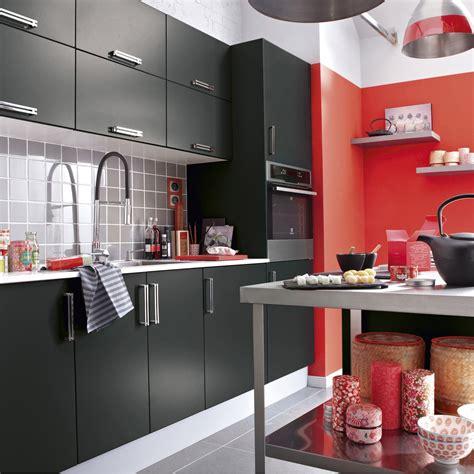 cuisine uip noir meuble de cuisine noir delinia délice leroy merlin