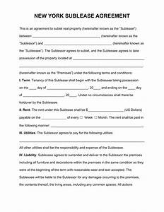 free new york sublease agreement template pdf word With nys will template