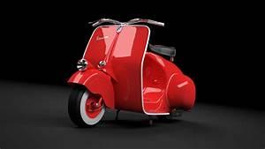 Scooter Vespa 98 1946 3d Model Max