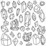 Crystal Vectors Vector Gemstone Drawn Hand sketch template