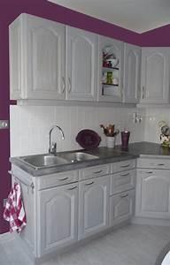cuisines eleonore deco With cuisine aubergine et grise