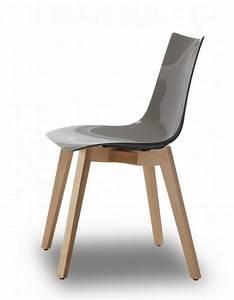 Chaise Transparente Pied Bois : design stuhl buche natural holz grau ~ Teatrodelosmanantiales.com Idées de Décoration