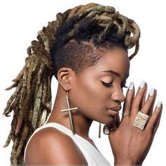 dreadlock mohawk hairstyle  women locs shaved sides