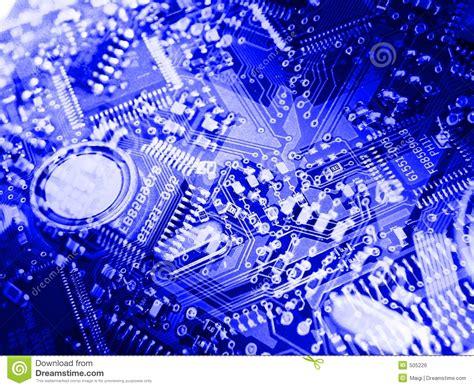 Blue Circuit Board Background Stock Illustration Image