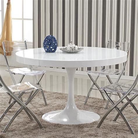 table de cuisine ronde blanche table à manger ronde design blanche en bois laqué isola