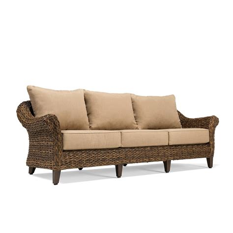 hton bay broadview patio sofa with sunbrella spectrum