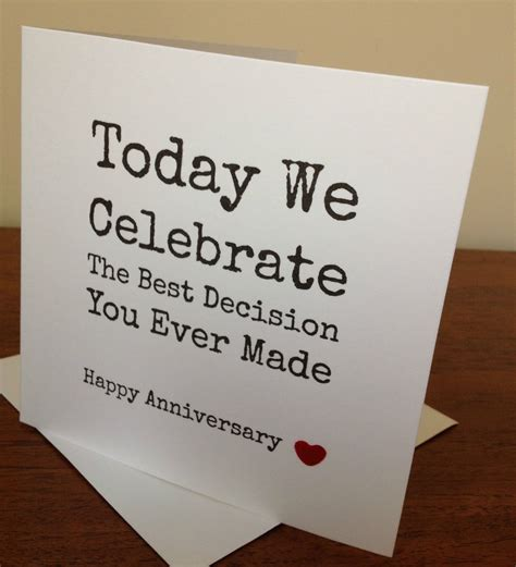 handmade wifehusband anniversary card funny