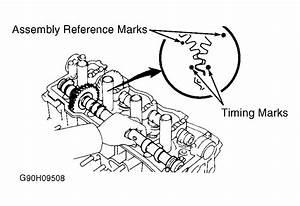 1993 Toyota Tercel Cam Timing Belt Marks Engine