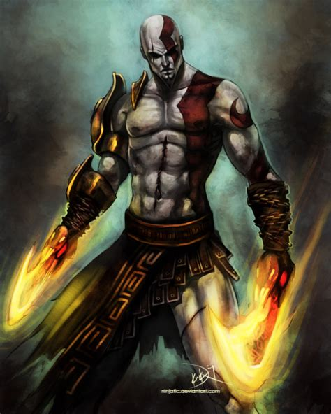 Kratos God Of War By Ninjatic On Deviantart