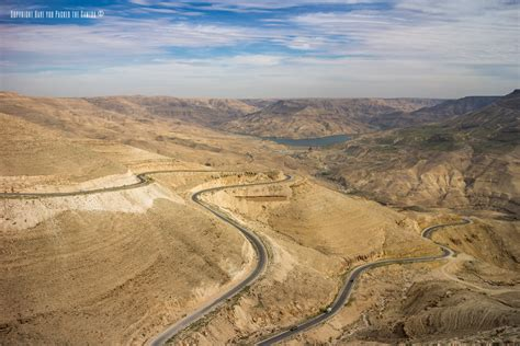 Driving Through The Kings Highway In Jordan From Madaba To