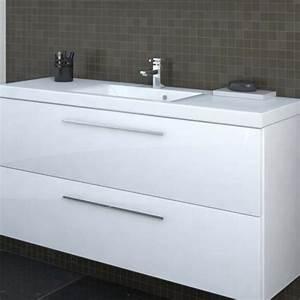Meuble Sous Vasque Blanc : carino meuble sous vasque 2 tiroirs 60x58x34 5cm blanc laqu le coin salle de bain meubles ~ Teatrodelosmanantiales.com Idées de Décoration