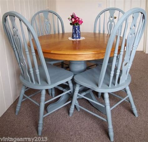 shabby chic dining table and chairs ebay shabby chic country farmhouse style round dining table 4 chairs ebay furniture things