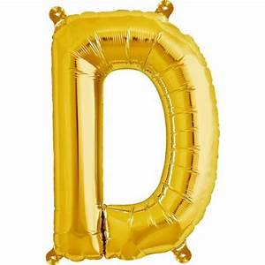 letter d foil balloon small foil balloons shindigscomau With small gold letter balloons
