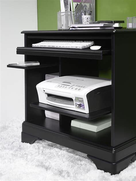 bureau informatique noir bureau informatique en merisier de style louis philippe