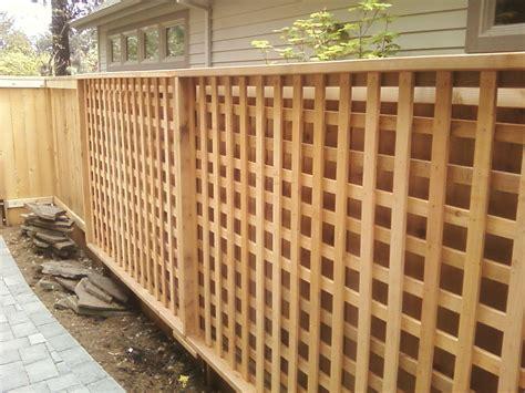 lattice fence square cedar lattice panels custom built by george and