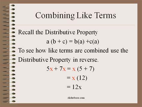 Combining Like Terms Sliderbase