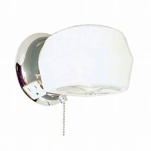 Endearing bathroom ceiling light with pull cord design