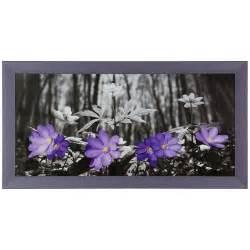 Schwarz Weiß Bilder Gerahmt : bild wandbild fotodruck bilder gerahmt 33x70 cm blumen wald schwarz wei lila ~ Watch28wear.com Haus und Dekorationen