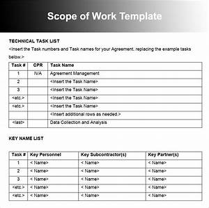 10 scope of work templates free word pdf excel doc formats for Scope of works template free
