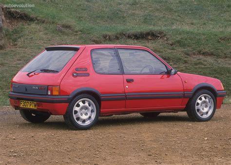 peugeot car one peugeot 205 gti specs 1984 1985 1986 1987 1988 1989