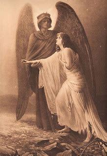 sepia print guardian angel  graphics fairy