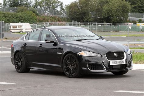 spied  jaguar readying  hardcore xfr  carscoops