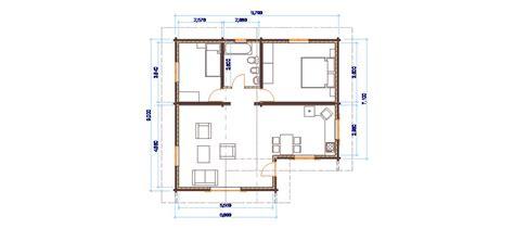 Progetti di case in legno: CASA 80 MQ