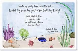 ocean friends invitation   sea invitation