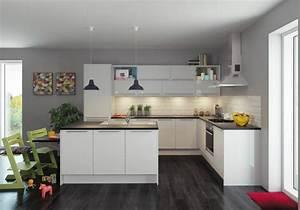 Meuble Plan De Travail Cuisine : deco peinture cuisine design ~ Teatrodelosmanantiales.com Idées de Décoration