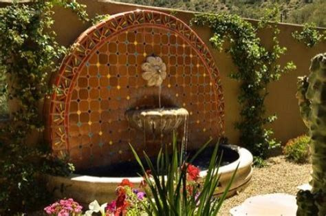 home improvement outdoor wall fountains with tile