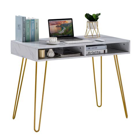 Purchase a high end coffee table, the perfect centerpiece modern coffee tables for your contemporary home. Modern White Marble Coffee Table Gold Metal Frame Desk Computer Table Furniture | eBay