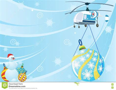 helicopter  christmas decorations stock
