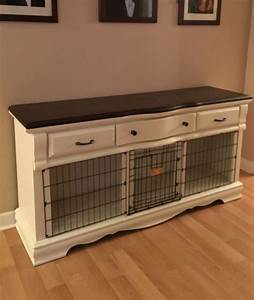 Divider interesting double dog crate double door wood dog for Indoor double dog kennel