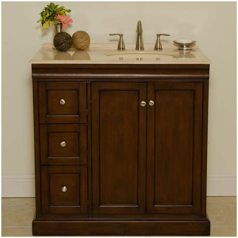 "Kellas 36"" Traditional Single Sink Bathroom Vanity"