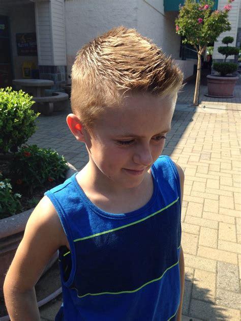 Boy Faux Hawk Hairstyle by Boys Front Faux Hawk For My Boys Faux