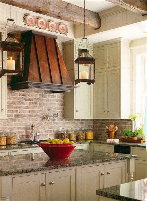 faux brick backsplash in kitchen brick backsplashes rustic and of charm 8919