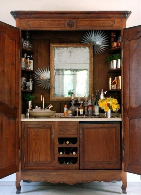 Home Bar Furniture With Sink by Converted Hutch Into A Bar Furniture Bars
