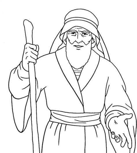 moses coloring pages getcoloringpagescom