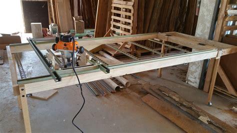 router sled table  flatten slabs  azwoody