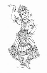 Flamenco Dancer Drawing Coloring Colouring Dancing Getdrawings sketch template