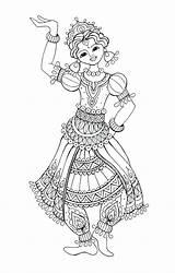 Flamenco Dancer Drawing Coloring Dancing Colouring Getdrawings sketch template