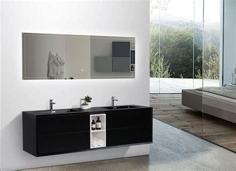bernstein bad shop badm 246 bel set doppelwaschtisch waschtisch schwarz matt