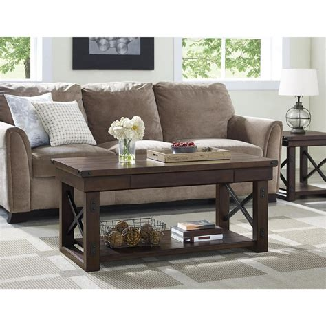 white and brown coffee table baxton studio dauphine white and light brown coffee table