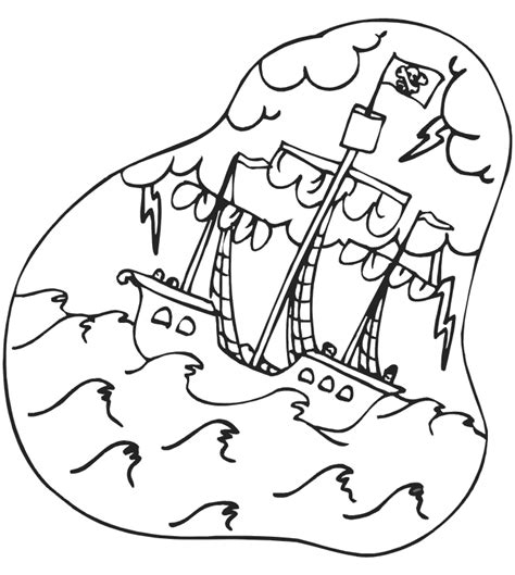 pirate ship coloring page coloring home